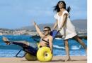Inclusão: Inaugurado 1º calçadão de praia para pessoas com deficiência